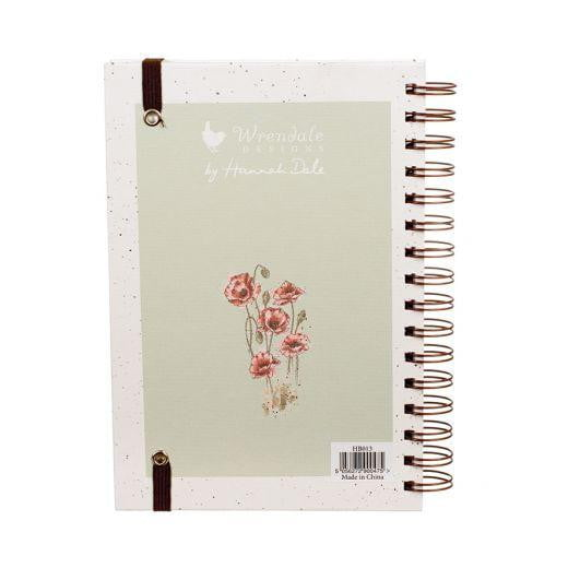 Wrendale Designs 'Poppy Fields' Fox A5 Spiral Notebook - Hothouse