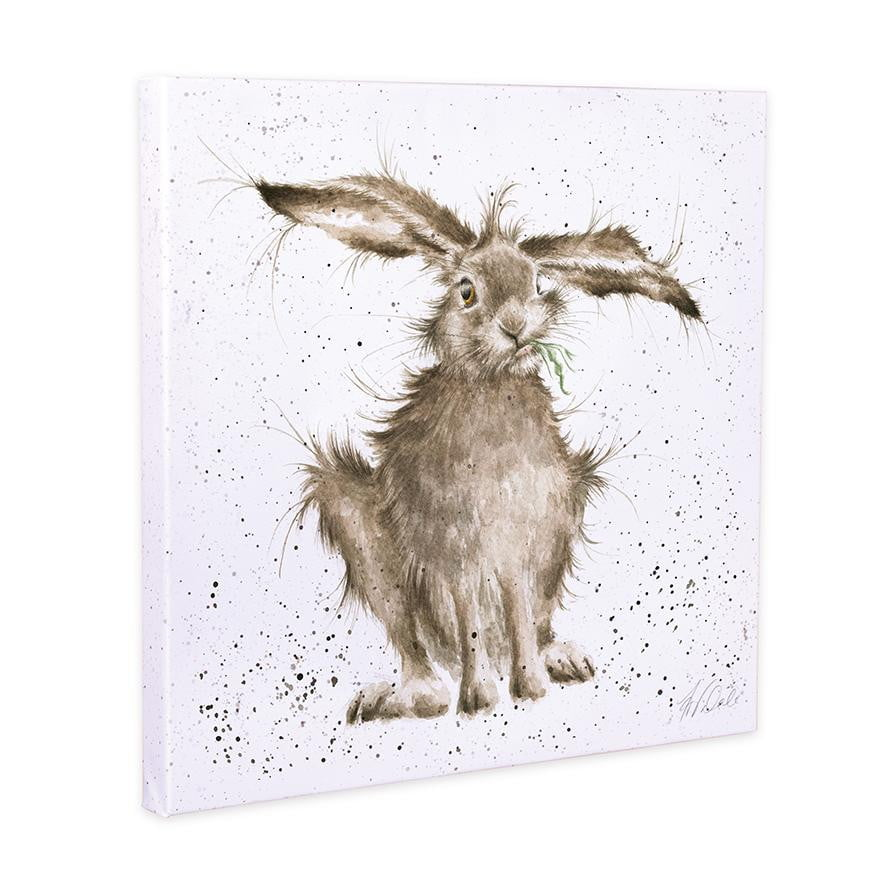 Wrendale Designs - 'Hare Brained' Hare 20cm Canvas Print - Hothouse