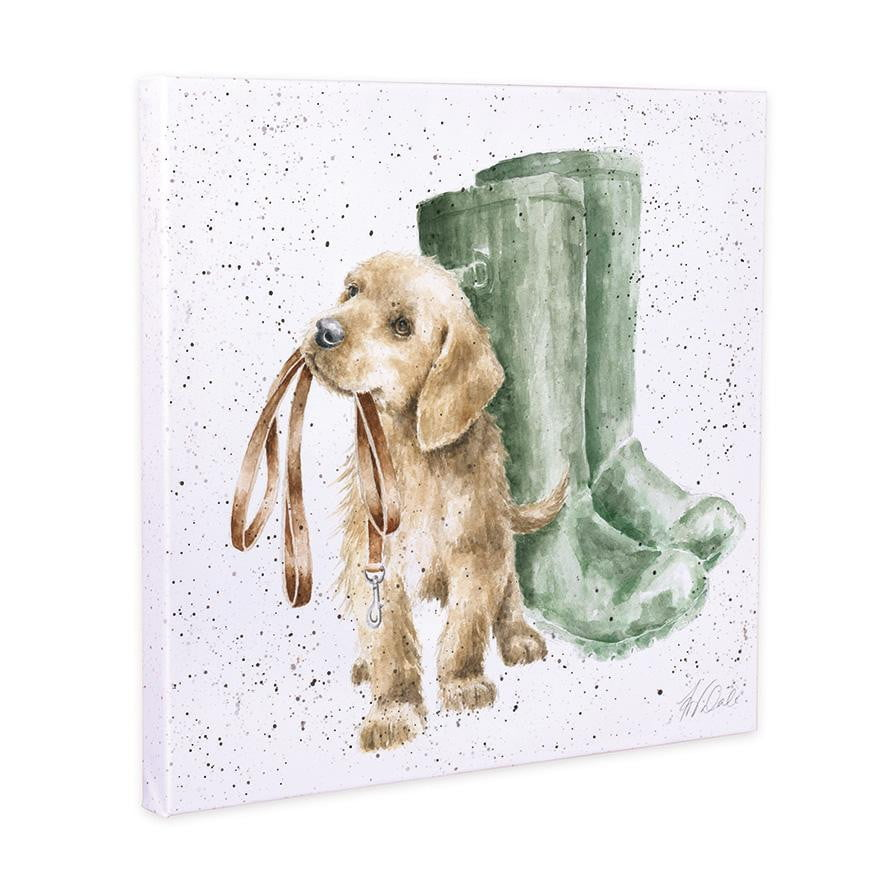 Wrendale Designs - 'Hopeful' Labrador Puppy 20cm Canvas Print - Hothouse