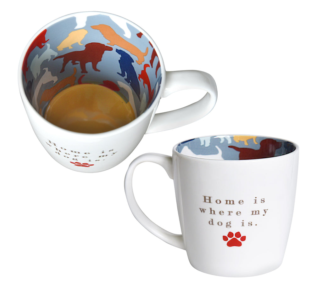 'Home is Where My Dog is' Ceramic Inside Out Mug - Hothouse