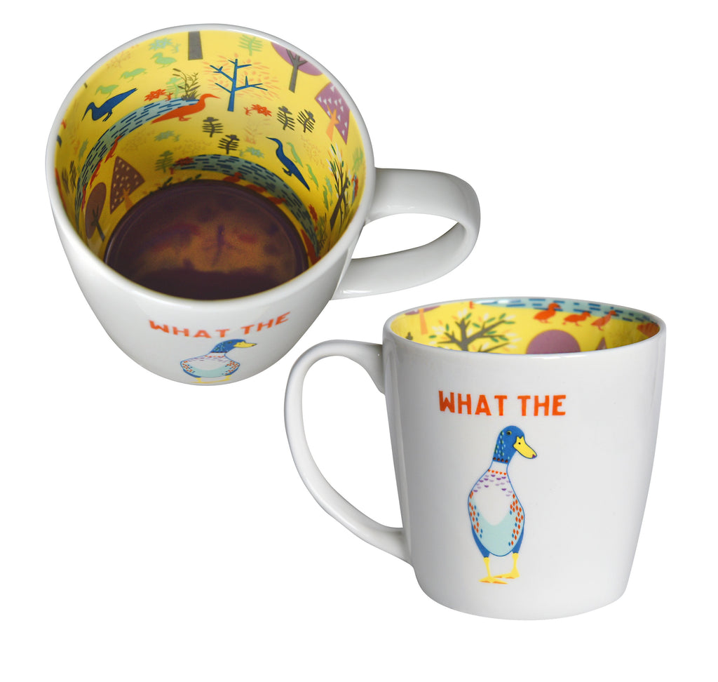 What the 'Duck' Ceramic Inside Out Mug - Hothouse