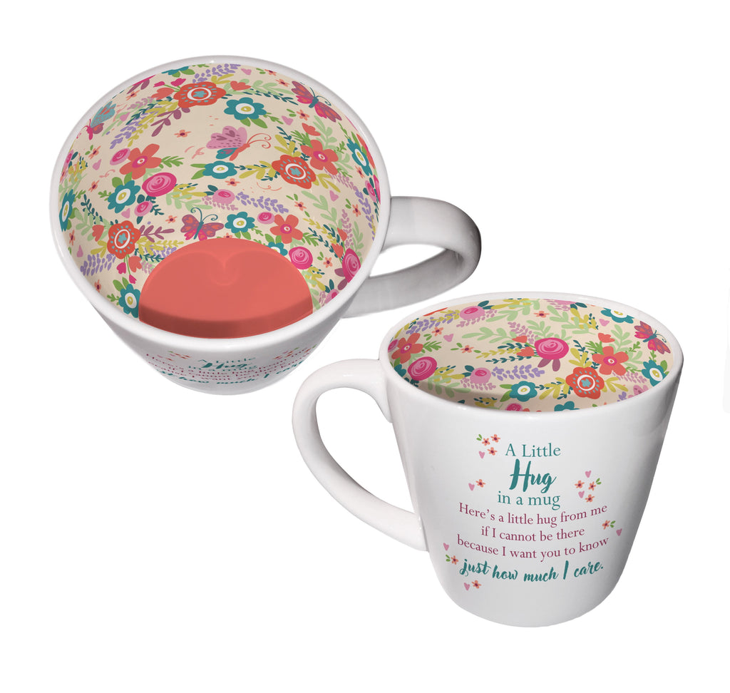 'A Little Hug in a Mug' Ceramic Inside Out Mug - Hothouse