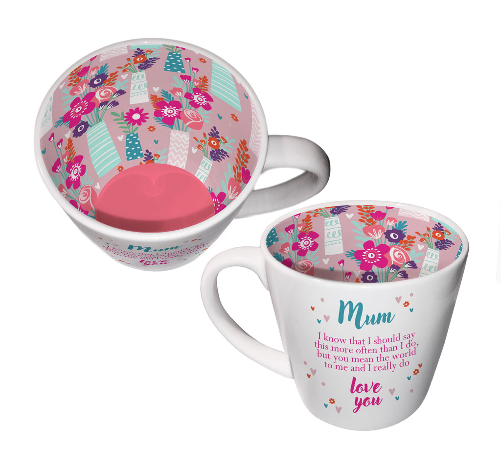 'Mum' Ceramic Inside Out Mug