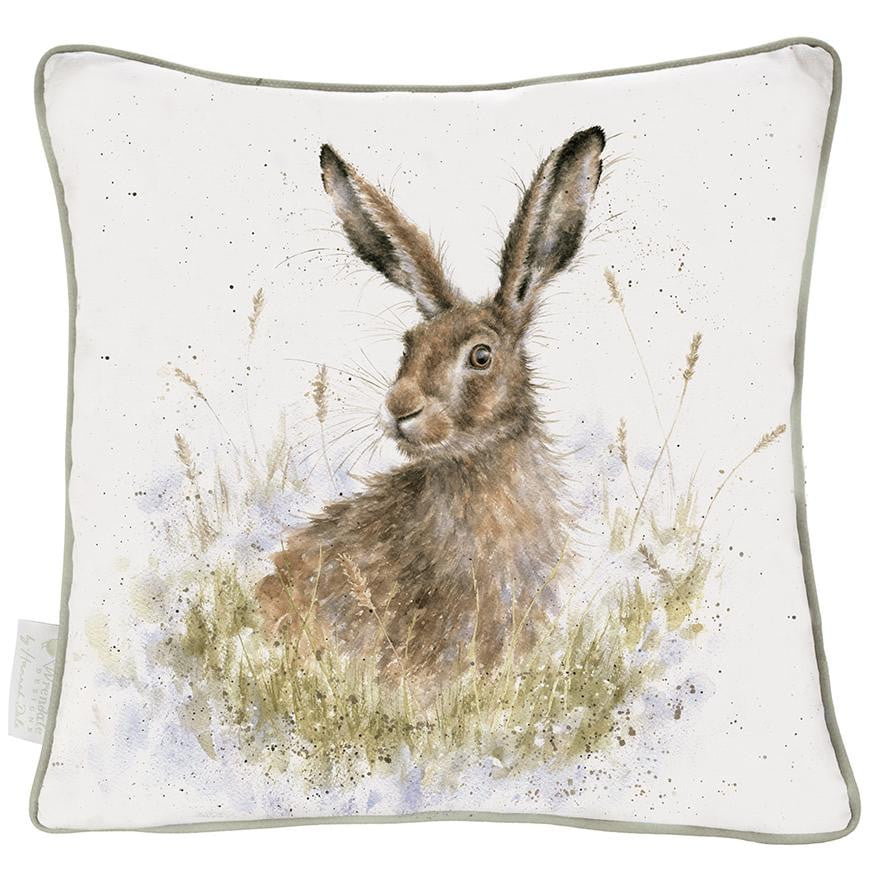Wrendale 'Into the Wild' Hare Large 60cm Statement Cushion