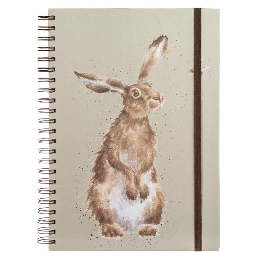 Wrendale Designs 'Hare and the Bee' Large A4 Spiral Notebook - Hothouse