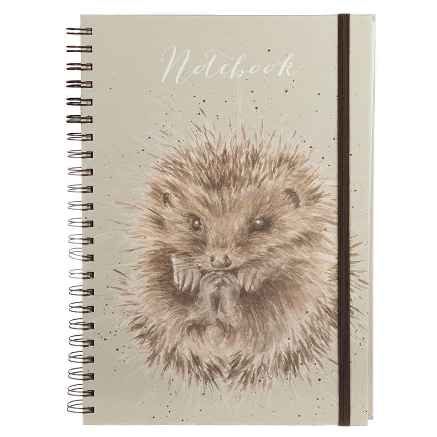 Wrendale Designs 'Awakening' Hedgehog Large A4 Spiral Notebook - Hothouse