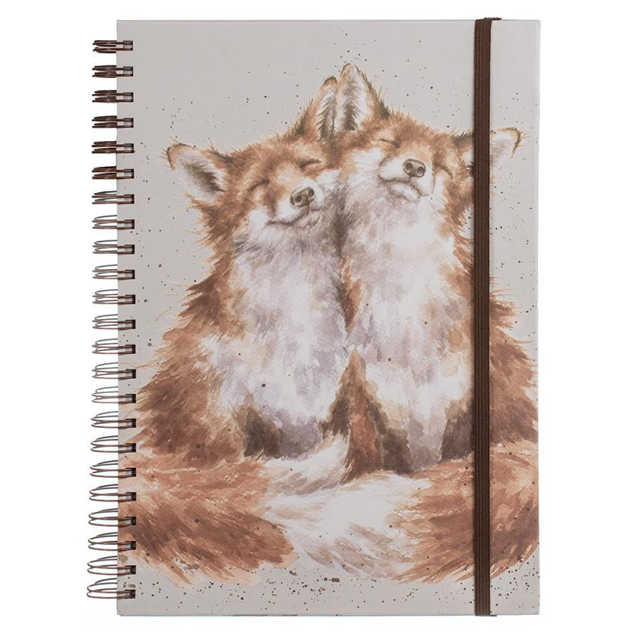Wrendale Designs 'Contentment' Fox Large A4 Spiral Notebook - Hothouse