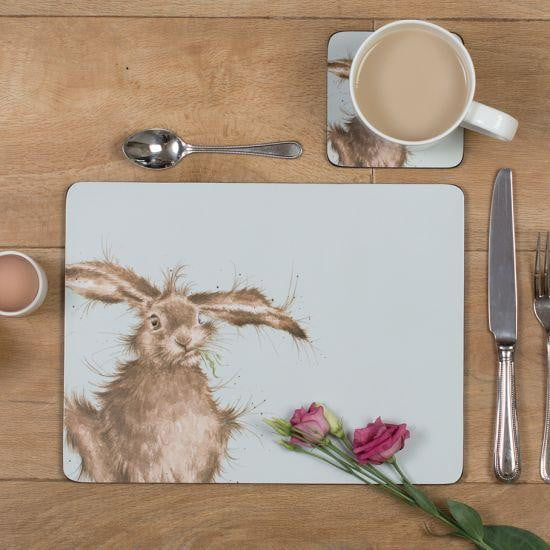 Wrendale Designs Hare Placemats - Set of 6 - Hothouse