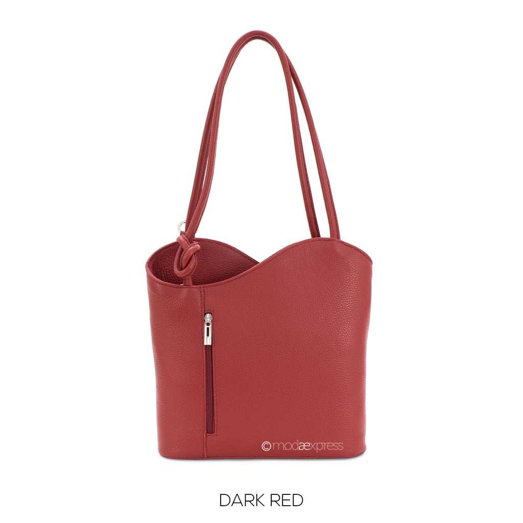 Italian Leather Shoulder Bag Convertible Backpack - available in several colours - Hothouse