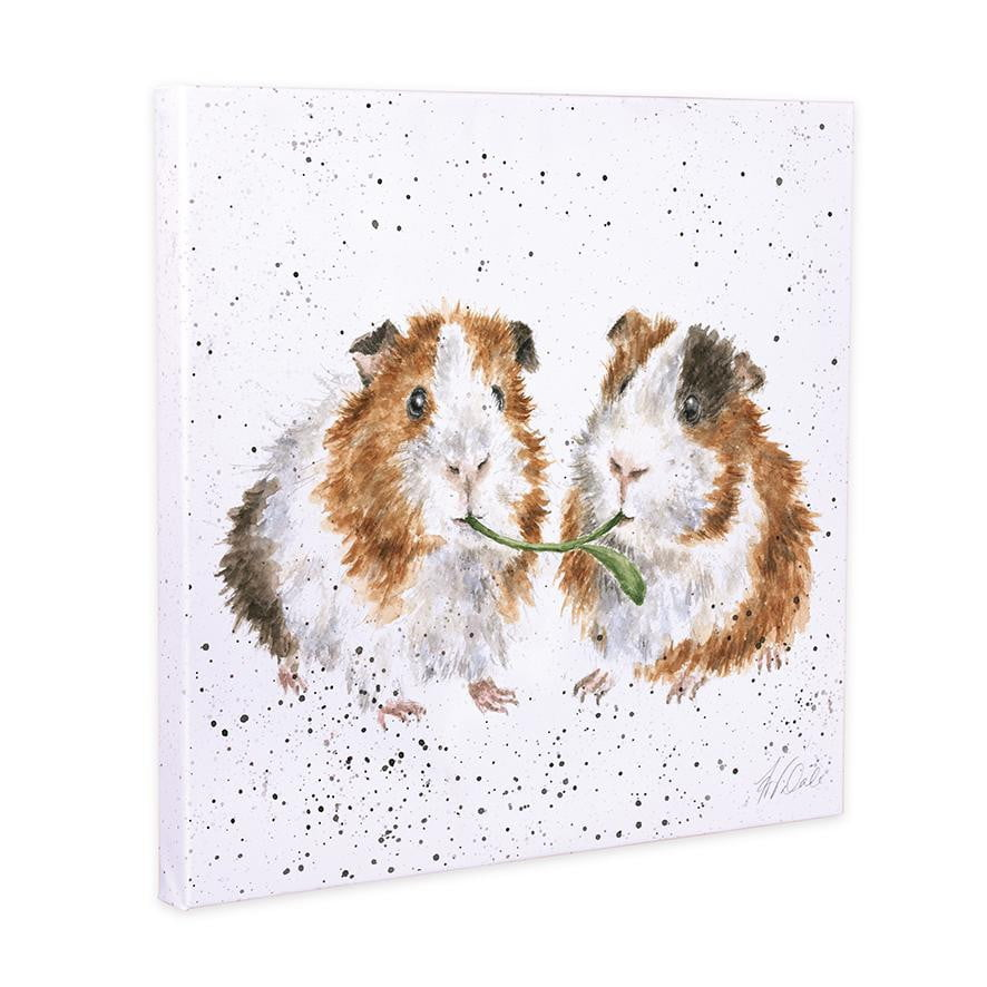 Wrendale Designs 'Lettuce be Friends' Guinea Pig 20cm Canvas - Hothouse