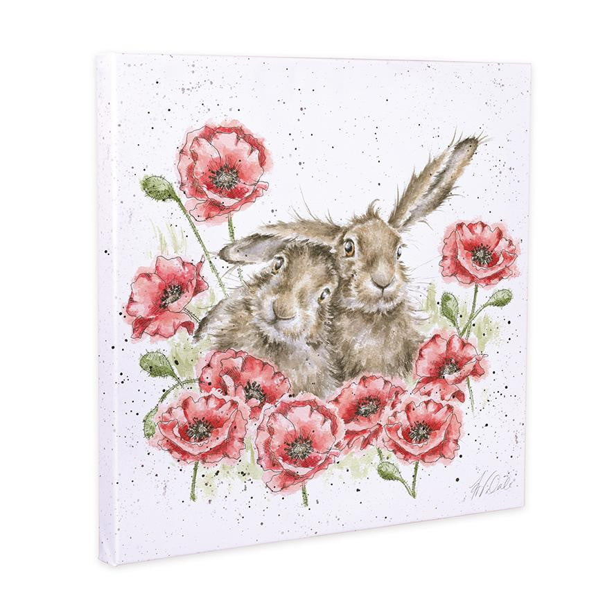 Wrendale Designs - 'Love is in the Hare' Hare 20cm Canvas Print - Hothouse