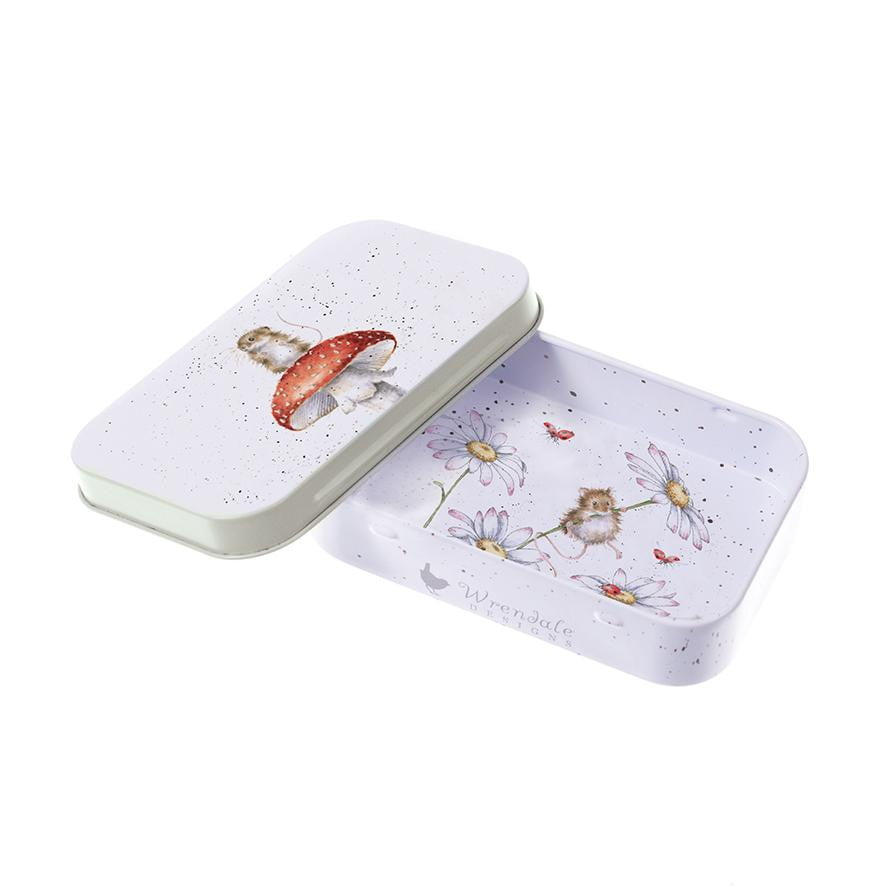 Wrendale Designs 'Fun-Gi' Mouse Keepsake Mini Gift Tin