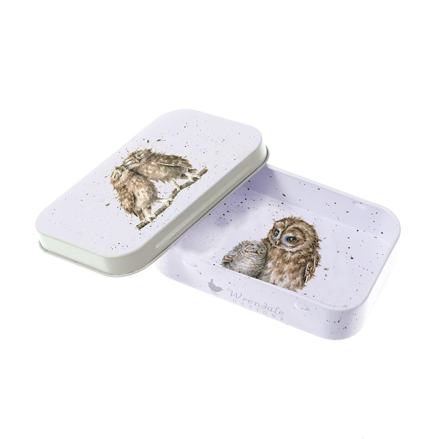Wrendale Designs 'Birds of a Feather' Owl Keepsake Mini Gift Tin