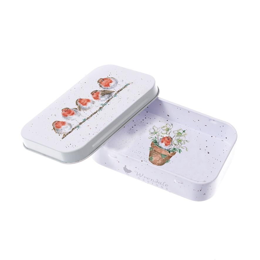 Wrendale Designs 'Jolly Robin' Robin Keepsake Mini Gift Tin