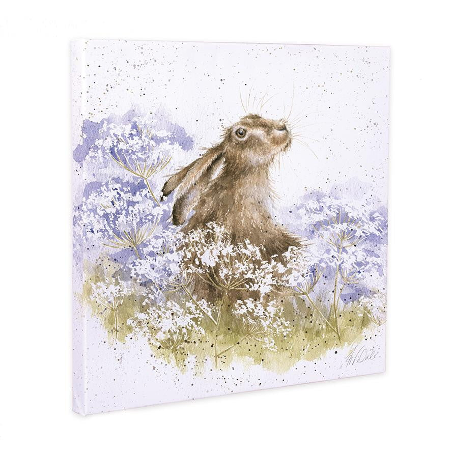 Wrendale Designs - 'Meadow Hare' 20cm Canvas Print - Hothouse