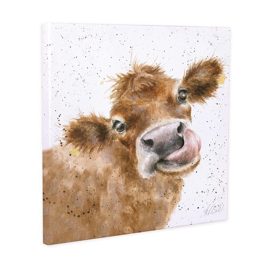 Wrendale Designs 'Mooo' Cow 20cm Canvas - Hothouse