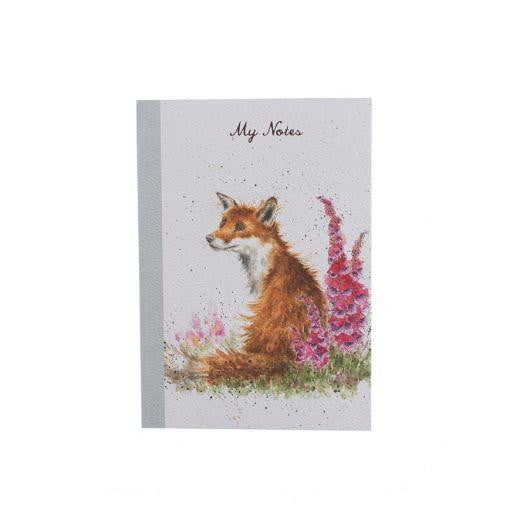 Wrendale Designs - 'Foxgloves' Fox A6 Notepad - Hothouse