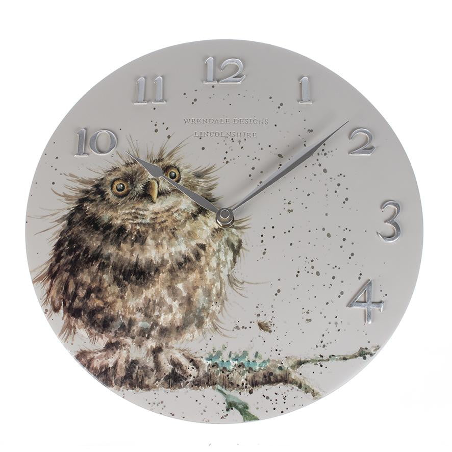 Wrendale Designs Owl Wall Clock - Hothouse