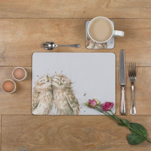 Wrendale Designs 'Birds of a Feather' Set of 6 Owl Placemats - Hothouse
