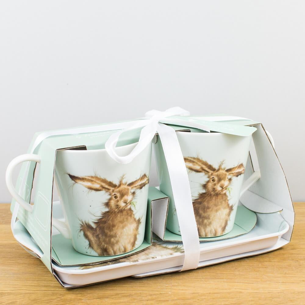Wrendale Designs Hare Mug & Tray Set - Hothouse