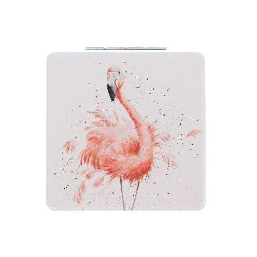 Wrendale Designs 'Pretty in Pink' Flamingo Compact Mirror - Hothouse