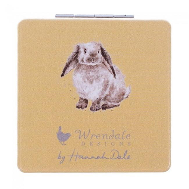 Wrendale Designs 'Earisistible' Rabbit Compact Mirror - Hothouse