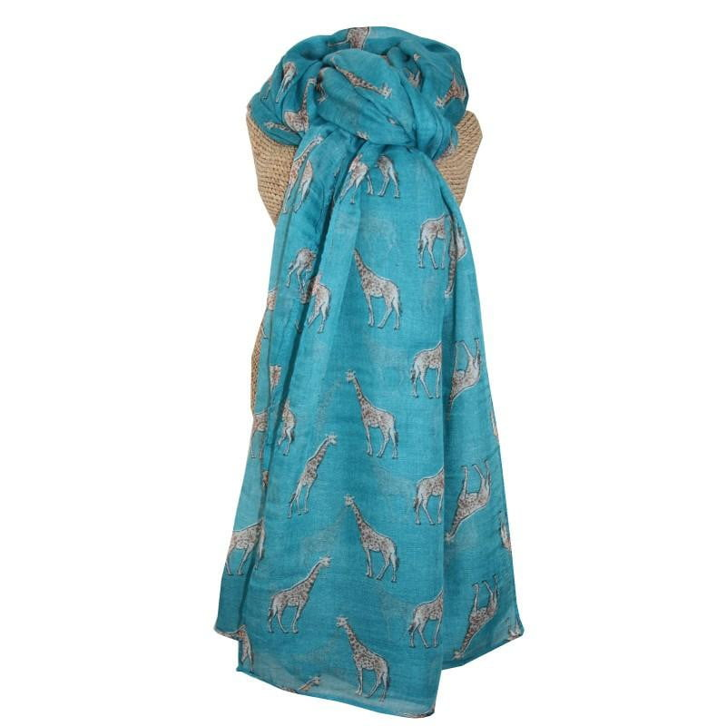 Lua Giraffe Scarf - Available in Navy & Turquoise - Hothouse
