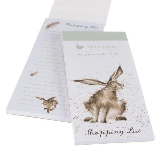 Wrendale Designs - 'Hare Raising' Magnetic Shopping List Pad - Hothouse