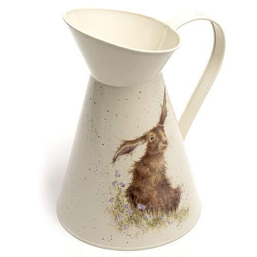 Wrendale Designs 'Harebells' Hare Tin Flower Jug - Hothouse