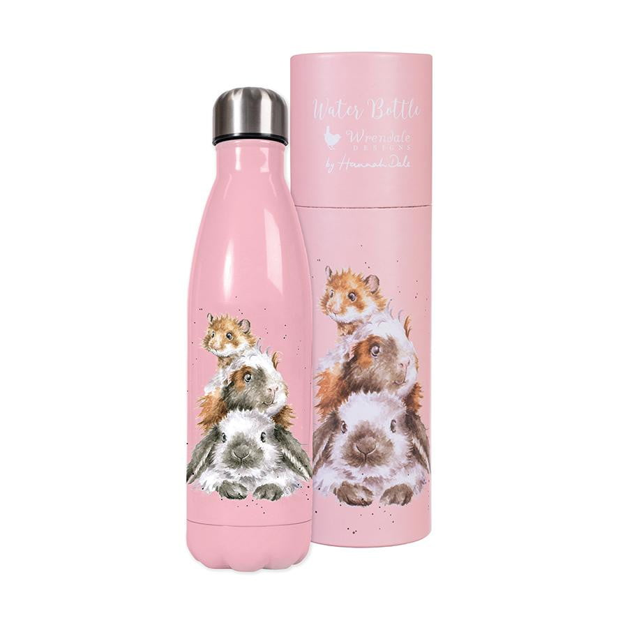 Wrendale 'Piggy in the Middle' Guinea Pig, Rabbit & Hamster Water Bottle (500ml)
