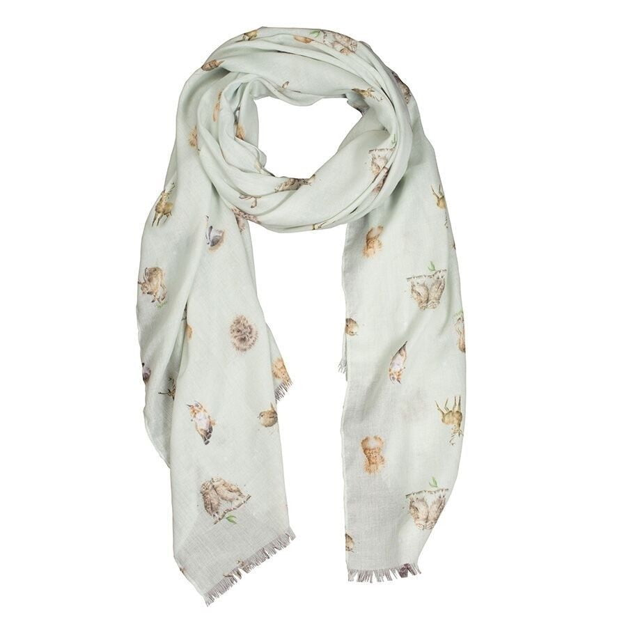 Wrendale Designs Woodlanders Green Scarf - Hothouse