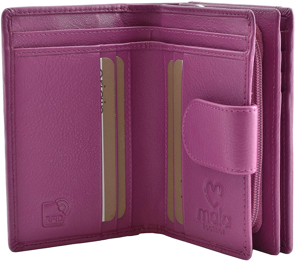 Mala Leather Origin RFID Tab Purse with ID Window (3118 5) - available in several colours - Hothouse