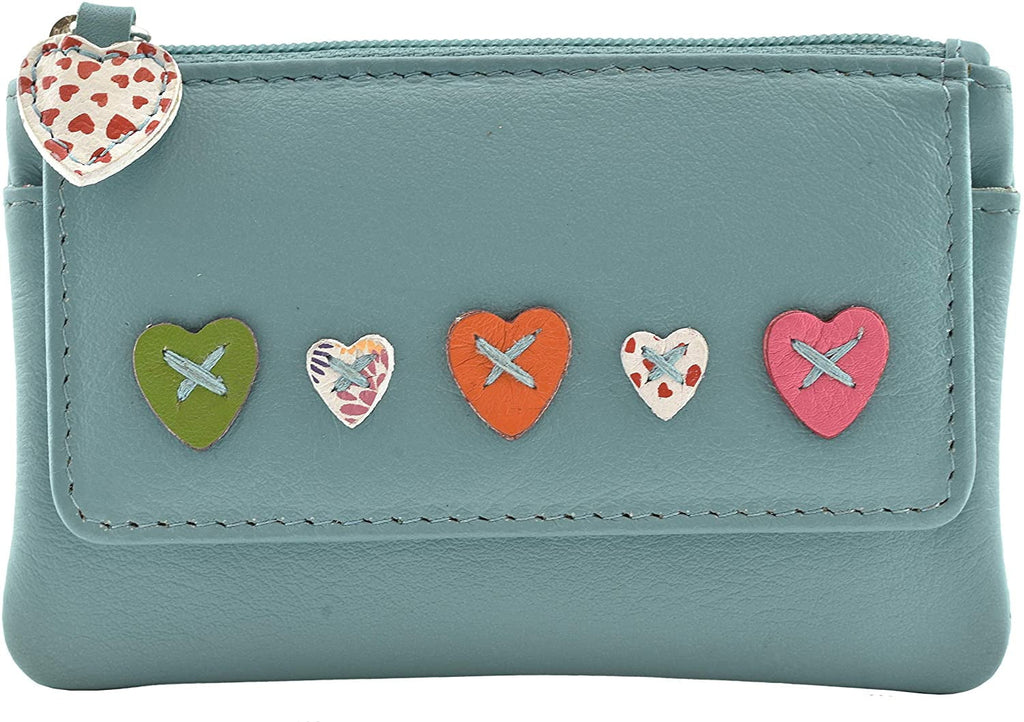 Mala Leather Lucy Coin Purse RFID (468-30) - Green