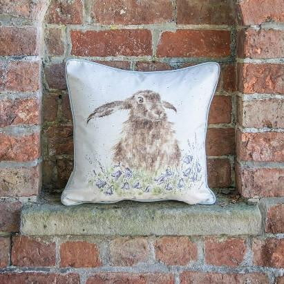Wrendale Designs 'Bright Eyes' Hare Cushion - Hothouse