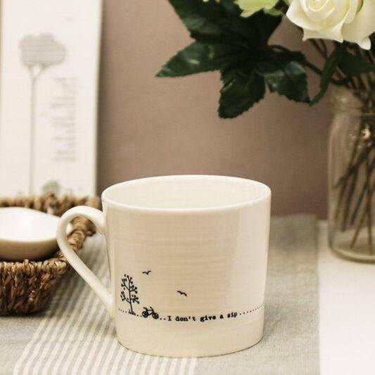 East of India Porcelain Wobbly Mug - I don't give a sip - Hothouse