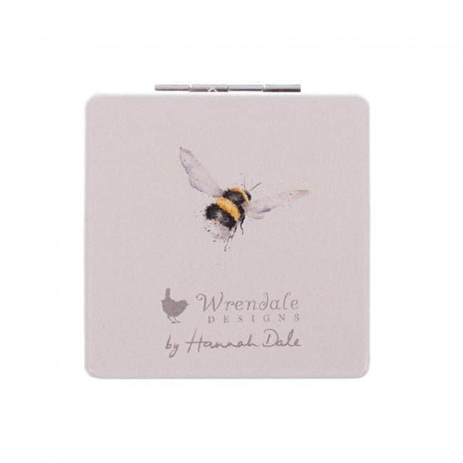 Wrendale Designs 'Flight of the Bumblebee' Bee Compact Mirror - Hothouse