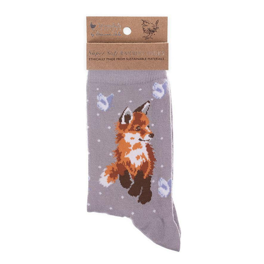 Wrendale Designs 'Born to be Wild' Fox Bamboo Socks