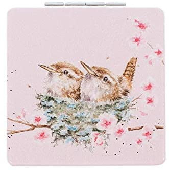 Wrendale Designs 'Home Tweet Home' Wren Compact Mirror