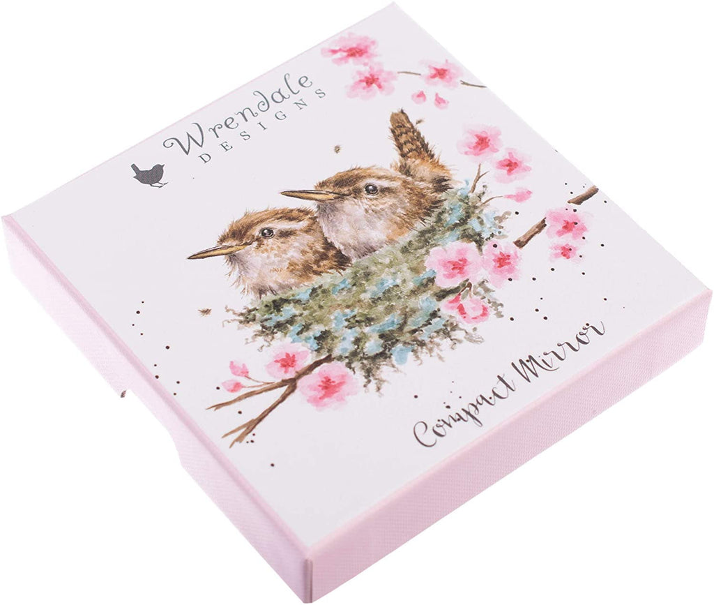 Wrendale Designs 'Home Tweet Home' Wren Compact Mirror - Hothouse
