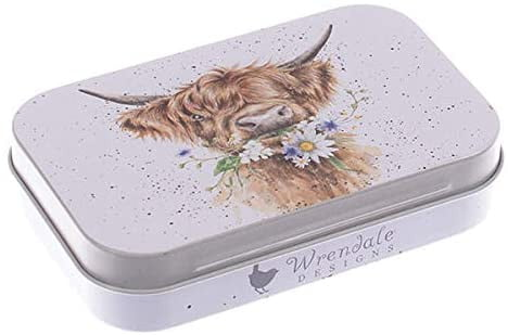 Wrendale Designs 'Daisy Coo'Highland Cow Keepsake Mini Gift Tin