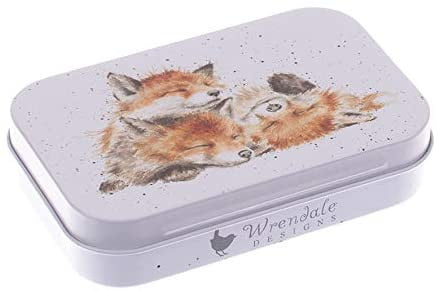 Wrendale Designs 'The Afternoon Nap' Foxes Keepsake Mini Gift Tin - Hothouse
