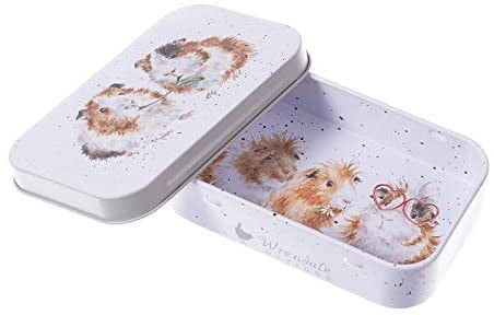 Wrendale Designs 'Lettuce be Friends' Guinea Pig Keepsake Mini Gift Tin - Hothouse