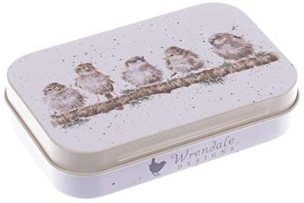 Wrendale Designs 'Chirpy Chaps' Sparrows Keepsake Mini Gift Tin
