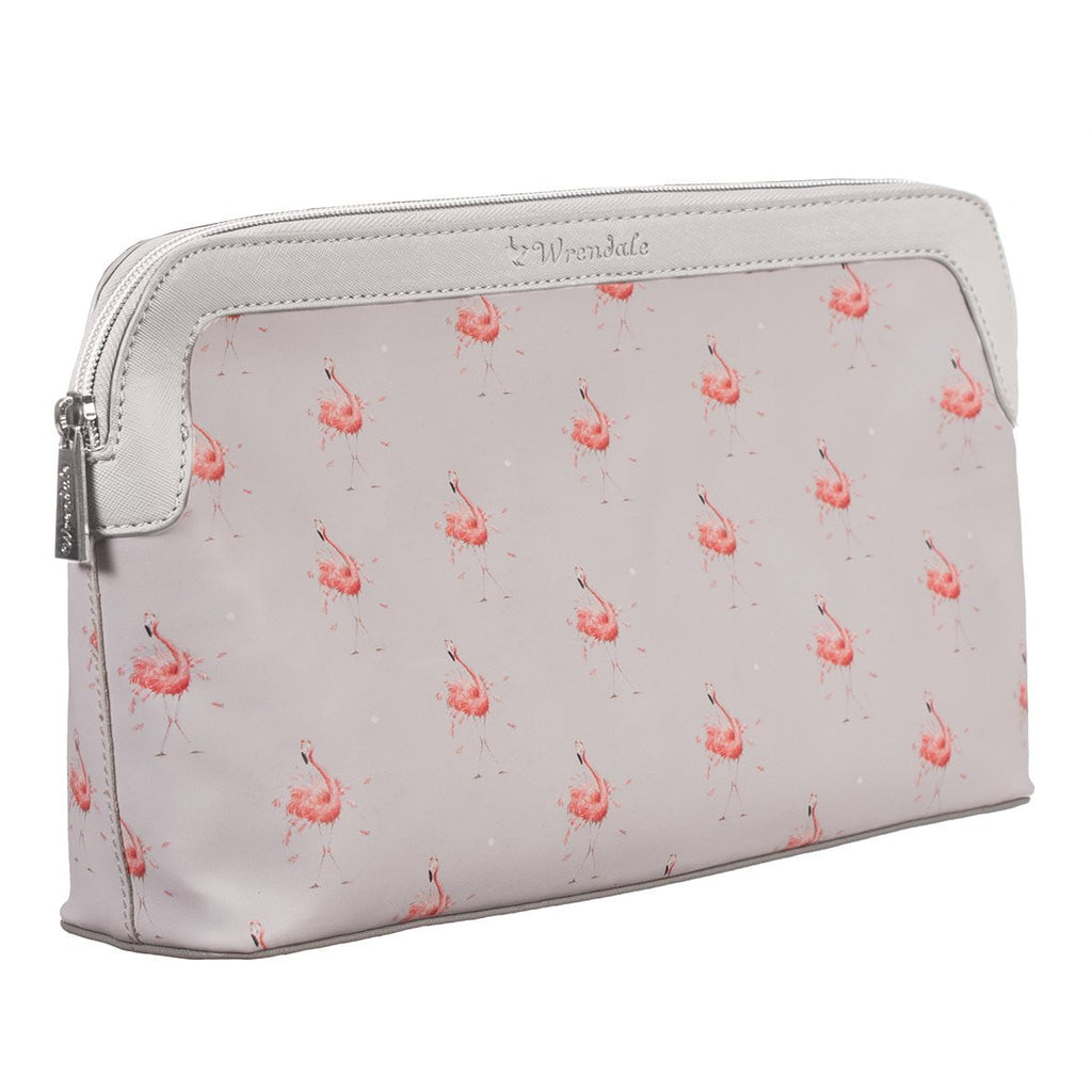 Wrendale Designs Large 'Pink Lady' Flamingo Cosmetic Bag