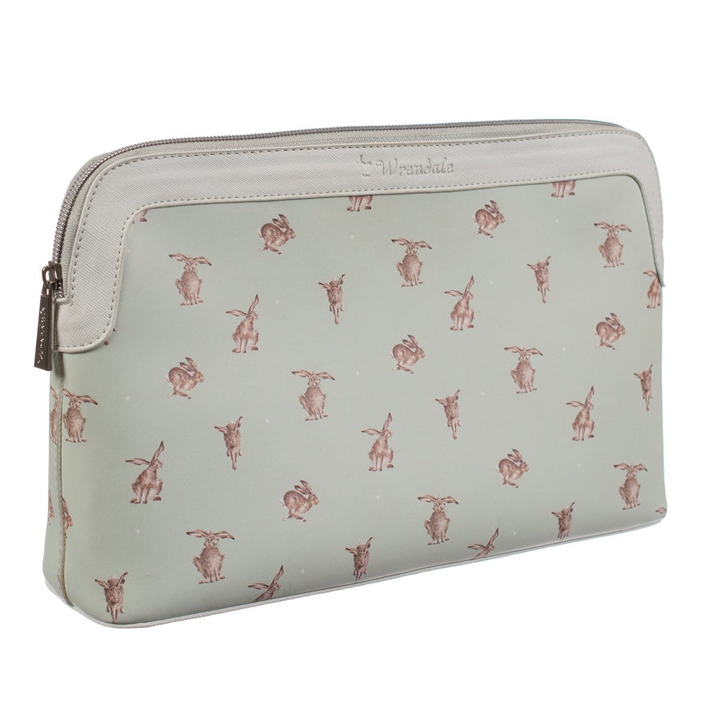 Wrendale Designs - Large 'Hare-Brained' Hare Cosmetics & Toiletries Wash Bag