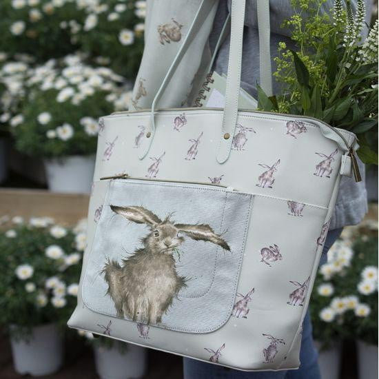 Wrendale Designs - 'Leaping Hare' Everyday Tote Bag - Hothouse