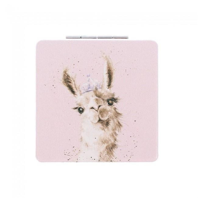 Wrendale Designs 'LLama Queen' Llama Compact Mirror - Hothouse