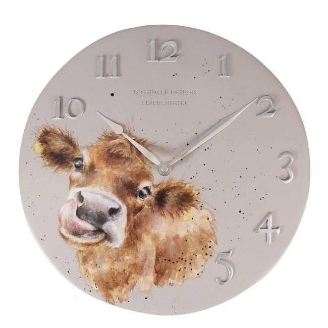 Wrendale Designs 'Mooo' Cow Wall Clock - Hothouse