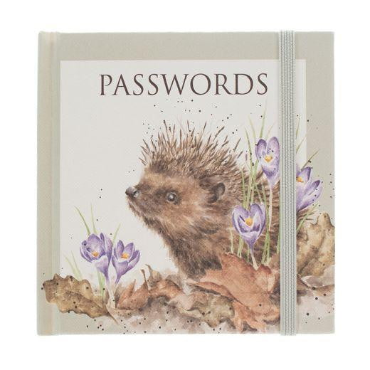 Wrendale Designs Hedgehog Passwords Book - Hothouse
