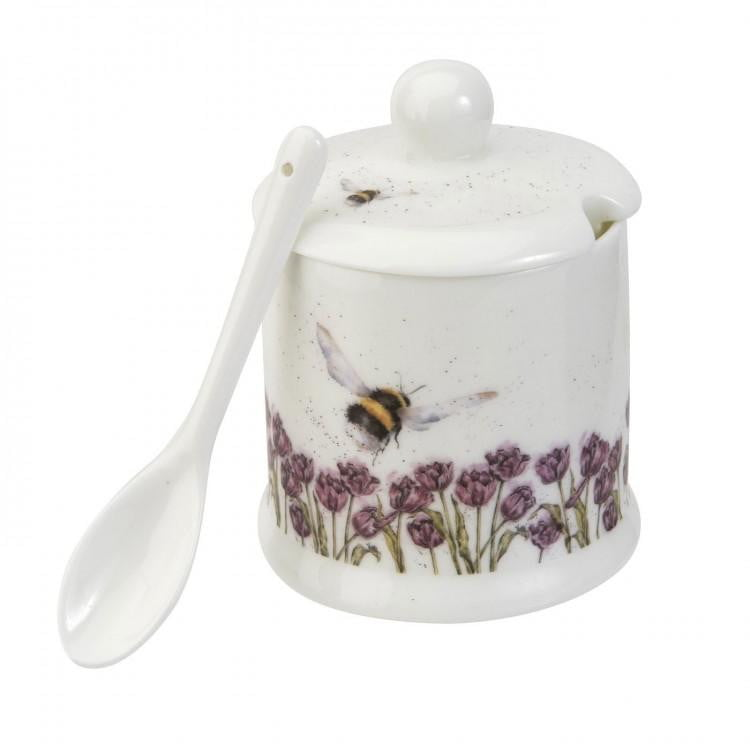 Wrendale Designs 'Flight of the Bumblebee' Conserve Pot and Spoon - Hothouse